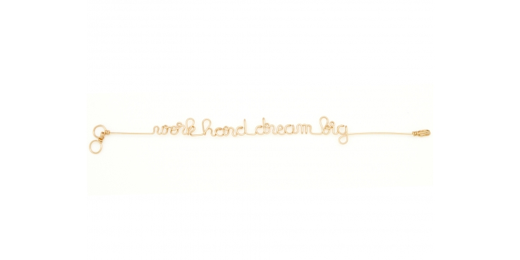 "Bracelet Mantra ""Work hard dream big"""