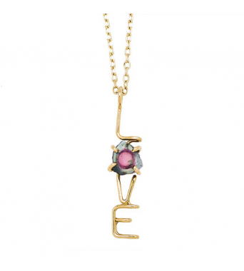 Capital LOVE Emotion Stone Pendant